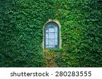 Old Church Window Surrounded By ...