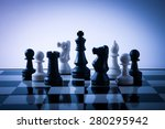 chess pieces on board with... | Shutterstock . vector #280295942