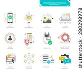seo internet marketing icons ... | Shutterstock .eps vector #280298978