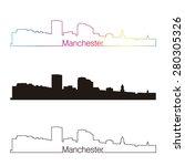 manchester skyline linear style ... | Shutterstock .eps vector #280305326