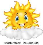 Smiling Sun Cartoon Mascot...
