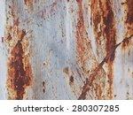 rusty metal wall texture... | Shutterstock . vector #280307285
