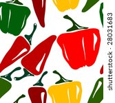 Seamless Chili Pepper Background