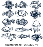 set of fishes. | Shutterstock .eps vector #28032274