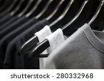 Stock photo sports clothing on hangers abstract background 280332968