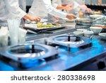 team of restaurant chef helping ... | Shutterstock . vector #280338698