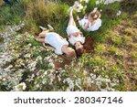 portrait of little girls... | Shutterstock . vector #280347146