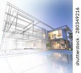 3d rendering of a luxurious... | Shutterstock . vector #280349216