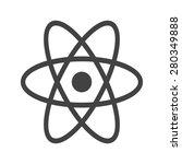atom  molecule  science icon... | Shutterstock .eps vector #280349888