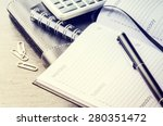 business concept with agenda ... | Shutterstock . vector #280351472
