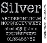 silver decorative font | Shutterstock .eps vector #280356896