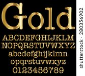 gold decorative font   Shutterstock .eps vector #280356902