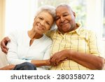 senior african american couple... | Shutterstock . vector #280358072