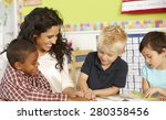 group of elementary age... | Shutterstock . vector #280358456
