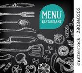 restaurant cafe menu  template... | Shutterstock .eps vector #280360202