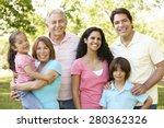 multi generation hispanic... | Shutterstock . vector #280362326
