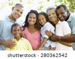 multi generation african... | Shutterstock . vector #280362542