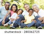 multi generation african... | Shutterstock . vector #280362725