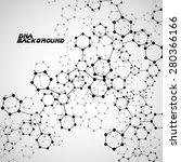 molecule dna. abstract... | Shutterstock .eps vector #280366166