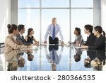 group of business people having ... | Shutterstock . vector #280366535