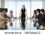 group of business people having ... | Shutterstock . vector #280366622