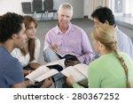meeting of bible study group | Shutterstock . vector #280367252