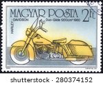 hungary   circa 1985  a stamp... | Shutterstock . vector #280374152