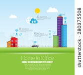 vector illustration of home to... | Shutterstock .eps vector #280375508