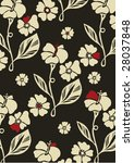 seamless floral background.... | Shutterstock .eps vector #28037848