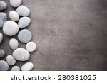 spa stones treatment scene  zen ... | Shutterstock . vector #280381025