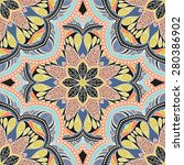 seamless pattern ethnic style.... | Shutterstock .eps vector #280386902