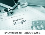 diagnostic form with diagnosis... | Shutterstock . vector #280391258