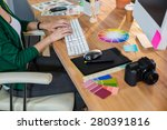 designer typing on keyboard in... | Shutterstock . vector #280391816