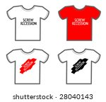 ready t shirts templates.... | Shutterstock .eps vector #28040143