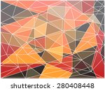 polygon mosaic background... | Shutterstock .eps vector #280408448