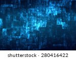 abstract blue matrix like... | Shutterstock . vector #280416422