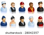 set of peoples icons   Shutterstock .eps vector #28042357