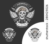 airborne vector emblem with... | Shutterstock .eps vector #280425026