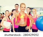 sport  fitness and diet concept ... | Shutterstock . vector #280429052