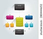 infographics flowchart. colored ... | Shutterstock .eps vector #280444652