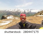 Adult European Hiker With...