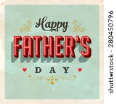 vintage father's day card  ... | Shutterstock .eps vector #280450796