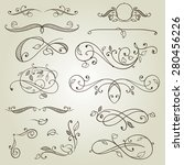 vector vintage design elements...   Shutterstock .eps vector #280456226