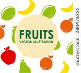 healthy food design  vector... | Shutterstock .eps vector #280476332