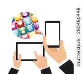social media design  vector... | Shutterstock .eps vector #280480448