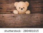 Cute Brown Teddy Bear In Old...
