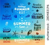 set of summer elements ... | Shutterstock .eps vector #280483196