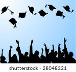 hat tossing ceremony at... | Shutterstock .eps vector #28048321
