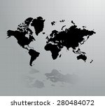 world map | Shutterstock . vector #280484072