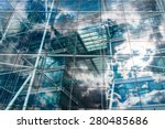 sky and clouds reflected in the ...   Shutterstock . vector #280485686